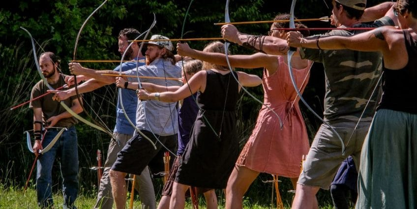 Come shoot a bow for the first time or improve your skill at our archery range.