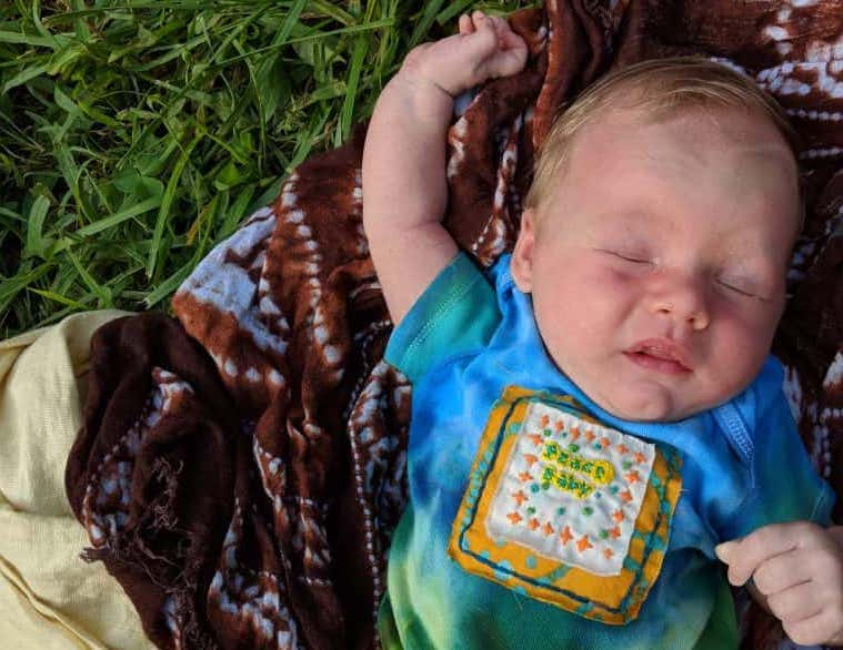 newborn baby first camping trip