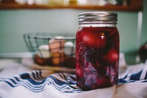 natural fermenting in a mason jar